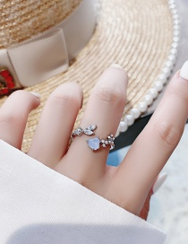 Fashion Golden Diamond Ring Cross Open Ring