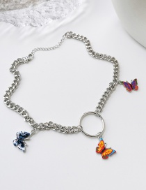 Fashion Color Color Butterfly Clavicle Chain