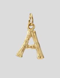Fashion A-38+5 Bead Chain 26 Letters 316l Titanium Steel Gold Plated Necklace