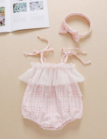 Fashion Pink Baby Sling Mesh Gown Romper