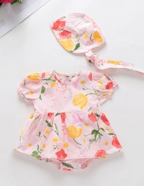 Fashion Pink Printed Floral Hooded Jumpsuit