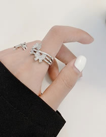 Fashion Butterfly Micro-studded Rhinestone Butterfly Ring