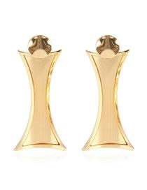 Fashion Golden Geometric Round Alloy Earrings