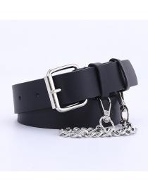 Fashion Black +5 Chain Chain Jeans Hanging Chain Belt