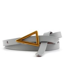 Fashion Gray Triangle Knotted Sugar Thin Belt