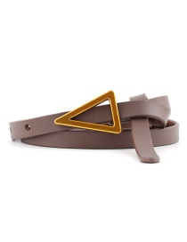Fashion Dark Khaki Triangle Knotted Sugar Thin Belt