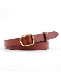 Fashion Brown Thin Belt Candy Color Knotted Belt