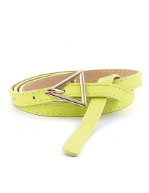 Fashion Fluorescent Green Triangle Buckle Thin Belt
