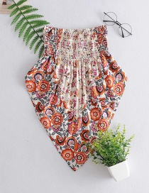 Fashion Color Elastic Printed Contrast Color Wrapped Chest Apron