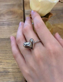 Fashion Silver Love Alloy Ring