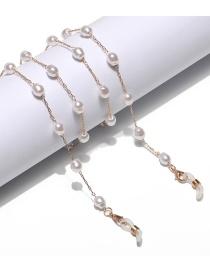 Fashion Golden Malformed Pearl Alloy Anti-lost Anti-drop Glasses Chain