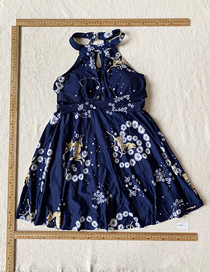 Fashion Navy Navy Blue Elk Flower Swimsuit