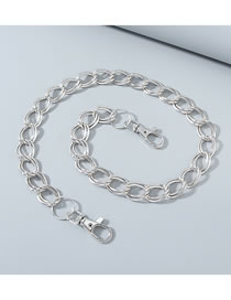 Fashion Silver Thick Chain Alloy Hollow Pants Chain