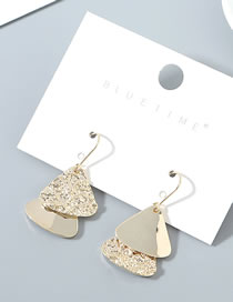 Fashion Golden Real Gold-plated Geometric Earrings