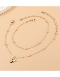 Fashion Golden Little Bee Double Anklet