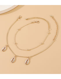 Fashion Golden Shell Alloy Anklet