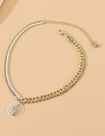 Fashion Golden Lucky Tree Double Anklet