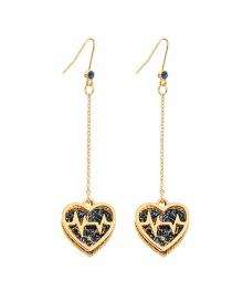Fashion Love Section Ecg Hollow Love Earrings