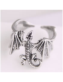 Fashion Silver Gecko Alloy Open Ring