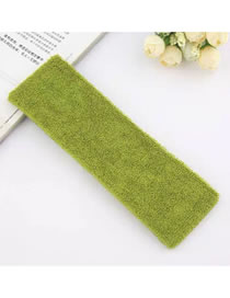 Fashion Green Solid Color Elastic Plush Sports Headband