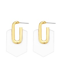 Fashion White Acrylic Geometric Alloy Earrings