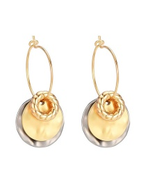 Fashion Golden Round Alloy Earrings