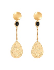 Fashion Golden Alloy Drop Chain Earrings