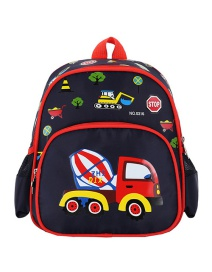 Fashion Dark Blue Car Car Spiderman Print Children Backpack