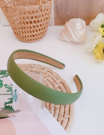Fashion Verdure Pu Leather Thin Edge Solid Color Hair Band