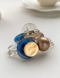 Fashion Sky Blue Resin Alloy Round Color Catch Clip