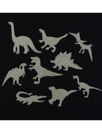 Adhesivo De Pared Fluorescente Estéreo Dinosaurio 9pcs / Bag