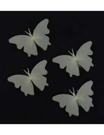 Fashion 9cm 4pcs/pack Butterfly Pvc Fluorescent Wall Sticker
