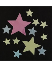 Fashion Color Stars Removable Self-adhesive Wall Stickers