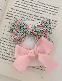 Fashion Pink Bow Broken Floral Bowknot Hand-made Fabric Card