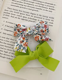 Fashion Green Bow Broken Floral Bowknot Hand-made Fabric Card