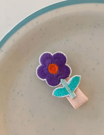 Fashion Purple Flowers Flower Plant Fruit Hairpin