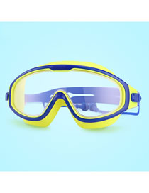 Fashion Transparent Blue High-definition Childrens Goggles