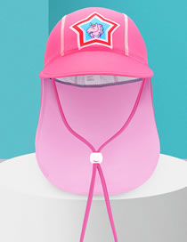 Fashion Pink Unicorn Large Size (suitable For 7-12 Years Old) Dinosaur Unicorn Octopus Print Neck Guard Childrens Sun Hat