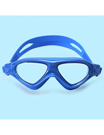 Fashion Blue High-definition Waterproof Anti-fog And Large Color Childrens Swimming Goggles