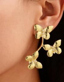 Fashion Golden Diamond Alloy Earrings