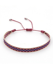 Fashion Red Hand-woven Geometric Adjustable Bracelet