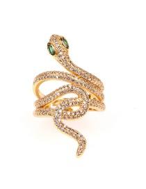 Fashion White Diamond Micro Diamond Ring With Serpentine Spiral Pattern