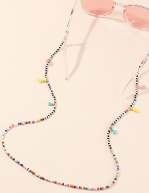 Fashion Color Mixing Handmade Rice Beads Woven Tassel Anti-skid Glasses Chain