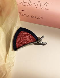 Fashion Red Sequins Hit Color Cat Ear Alloy Children's Hairpin
