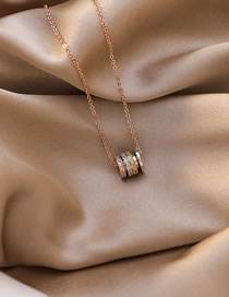 Fashion Rose Gold Xiaoman Waist Diamond Alloy Necklace