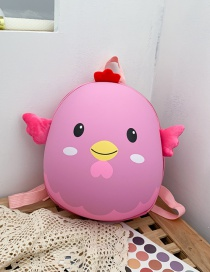 Fashion Chick Pink Printed Chicken Waterproof Eggshell Childrens Backpack