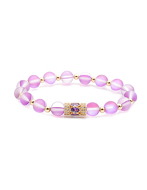 Fashion Gold Color Moonstone Copper Beads Small Waist Beaded Bracelet