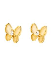 Fashion Brown Butterfly Resin Alloy Earrings