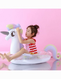 Fashion Sequined Inflatable Bottom Princess Horse Sequined Inflatable Bottom Boat Flamingo Unicorn Peacock Horse Bubble Bottom Child Seat