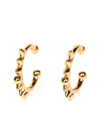 Fashion Hubei Province Toothed Copper Inlaid Zircon C-shaped Non-pierced Ear Bone Clip